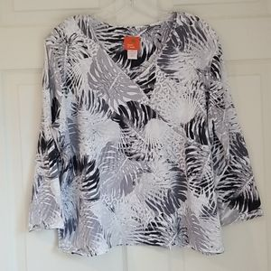 Hearts of Palm Top / Blouse gray/black & white